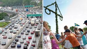 Många trafikproppar kan uppstå under midsommarhelgen.Bild: Bild: Jonas Ekströmer/TT, Henrik Holmberg.