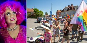 Babsan deltar vid årets pridefestival i Hofors. Bilder: Markus Boberg/Jörgen Svendsen