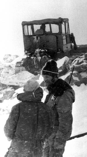 Jerker Widén var en av 40-talet man som arbetade med kabinbygget.