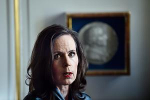 Sara Danius är Svenska Akademiens ständige sekreterare. Foto: Alexander Larsson Vierth  / TT
