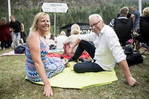 Mats och Annika Ågebrant var nöjda med att ha fått tag i biljetter till konserten.