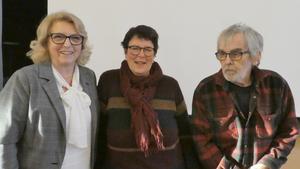 Gertrud Nygren, Gunilla Wikberg och Leif Persson ledde mötet. Foto: Stig-Björn Sundell