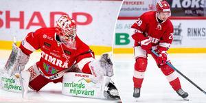 Victor Brattström och Jonathan Dahlén, två centralfigurer i Timrå IK redan på förhand.