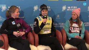 Astrid Öyre Slind, Britta Johansson Norgren och Lina Korsgren.