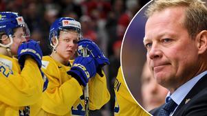 De svenska spelarna deppade efter förlusten och Henrik Stridh led med talangerna.Foto: Joel Marklund/Bildbyrån.