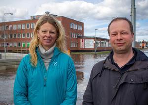 Erika Ågren, teknisk chef och Mikael Eriksson säkerhetsskyddschef. Båda på Sandvikens kommun.