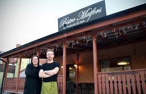Marie och Robert Almkvist äger och driver nya Bistro Matfors sedan i somras.