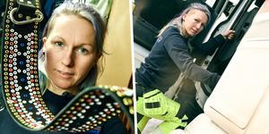 Elle Thomée, till vardags lastbilschaufför, visar upp sin verksamhet ute i