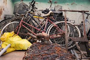 Foto: Fortum/Städa Sverige. Lite av det skrot som samlats in längs Indalsälven.