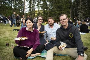 Anja Westberg, Malin Westberg, Henrik Andersson och Joel Mård Larsson.