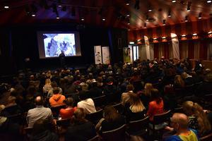 Omkring 200 elever fanns på plats i Moraparken under Industrinatten.