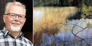Eilert Andersson ställer ut akvarellmålningar på världsarvsgården Erik Anders i Söderala fram till 25 augusti.