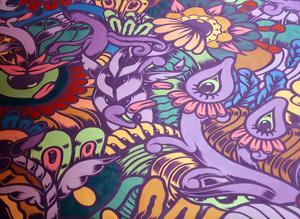 Favoritfärgerna är turkos, lila och rosa och det märks bland annat här.