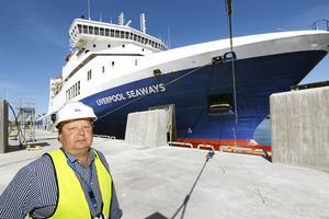 Peter Lundman är driftschef i Kapellskärs hamn.