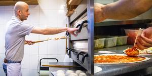 På nyårsdagen har pizzabagarna runt om i Hälsingland händerna fulla. Bilden är ett montage.