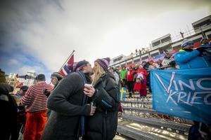 Jodå, det var både feststämning och VM-feber i VM-byn Åre. Det blev kärlek vid första tävlingsåket.