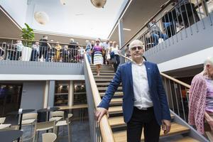Morgon Persson, vd, uppskattade att så många besökare var intresserad av att se de nya lokalerna.