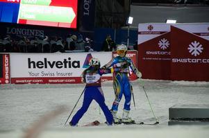 Två svenska skiddrottningar möttes i