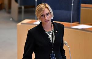 Åsa Eriksson (S) – skulle med rätt stöd kunna klara sig bra som politiker, lyder skribentens slutsats.