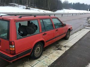 Den misstänkt stulna bilen. Foto ur polisens förundersökning.