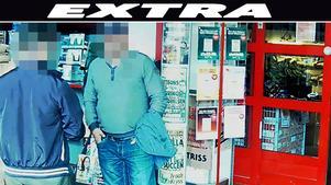 De två män som greps har nu anhållits. Bild: Skärmdump från inslaget som visades i TV3-programmet Efterlyst.