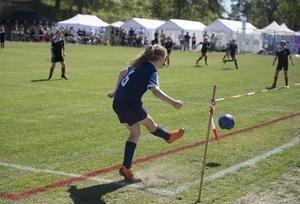 Det blev flera hörnor i matchen mellan SDFF och Söråkers FF när flickor 07 spelade match.