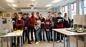 Klass 8B har deltagit i projektet som varit väldigt ämnesöverskridande och lärorikt enligt eleverna.