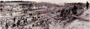 Utopin börjar med drömmen om det perfekta samhället och slutar i Gulag. Sovjetiska straffarbetare gräver en kanal 1932. Foto: Okänd