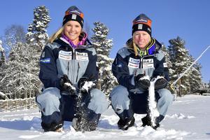 Anna Holmlund och Sandra Näslund, redo för världscuppremiär.