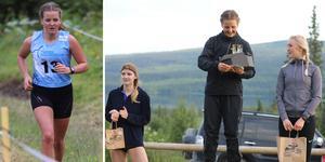 Karolina Hedström under tävlingen och på pallen.