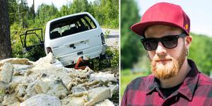 Robert Karlsten reagerar över nedskräpningen i Medskogsbron.