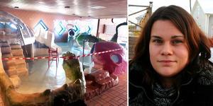 Marlene Vikström arbetar på Drakfastigheter som förvaltar Matfors badhus. Bild: Drakfastigheter/Arkivbild