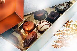 Högkvalitativ kartong för chokladaskar är en av de många produkter som produceras på Stora Enso Fors Bruk.