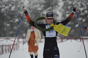 Falun Borlänges Emilia Lindstedt segrade i damklassen.Foto: Privat