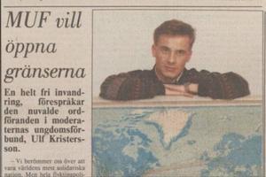 Moderatledaren Ulf Kristersson ville en gång i  tiden ha öppna gränser. I dag låter det annorlunda. Bild: Arkiv