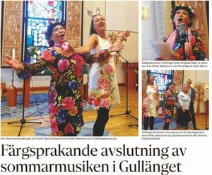 Stor show med mycket spex och humor bjöd sopranerna Ania Winek Albertsson och Gunilla Magnusson på vilket man kunde läsa om i ÖA.