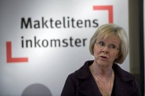 LO-ordförande Wanja Lundby-Wedin slingrar sig om bonusar.