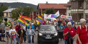 Ljusdal var sist av Hälsinglands kommuner att anordna en pridefestival.