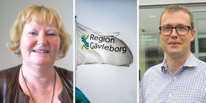 Hur ska regionen spara 578 miljoner? Regionråden Marie-Louise Dangardt, S, och Patrik Stenvard, M, har en knivig situation framför sig.