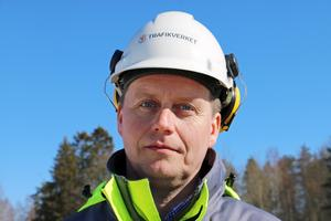 Mattias Broberg, Trafikverkets projektledare för riksväg 50 mellan Rude och Åsbro.