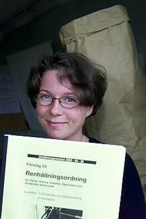 Foto: ANNAKARIN BJÖRNSTRÖM Projektledare. AnnaCarin Söderhielm på Gästrike återvinnare hoppas att allmänheten ska tycka till om de förslag om avfallshantering som tagits fram.