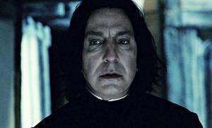 Alan Rickman spelade professor Severus Snape i