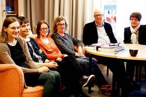 Arbetslaget vid det humanistiska programmet ser både fördelar och nackdelar med anonyma prov; Elin Klefbom, Maria Smedskog, Jessica Starck, MariaForslund, Staffan Gunnhede och Ingela Anderzon.