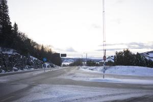 Planerad av/påfart för GC-vägen på Frönäsudden.