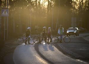 Det finns väldigt många fördelar med att gå och cykla istället för att åka bil, skriver gatuavdelningen i en insändarreplik till Skönsmons treor. Bilden har inget direkt samband med insändaren.