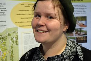 Nadja Lind, landskapsarkitekt vid Borlänge Energi, hoppas att bygget av hinderbanan kan påbörjas under sommaren.