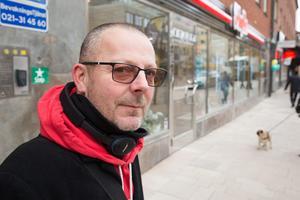Stefan Jansson gillar att det finns många restauranger på Sturegatan Västerås.