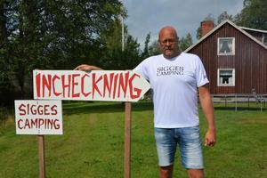 Tomas Rolandsson är en av de ansvariga på Sigges Camping