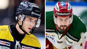 Pierre Engvall, HV71, och Daniel Grillfors, Mora. Foto: Bildbyrån