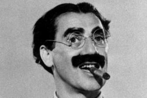 Groucho Marx, (1890–1977), komiker/skådespelare, USA: